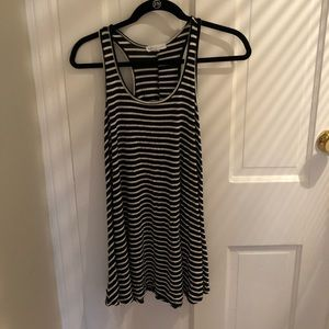 Socialite Black and White Striped Dress Size Small